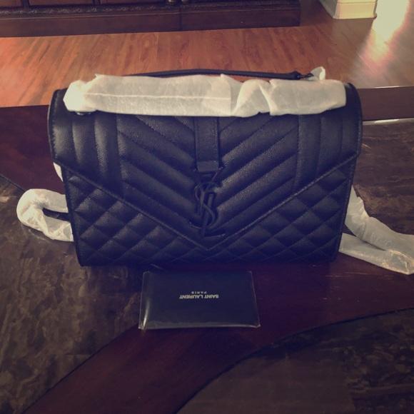 ad6025da75 Yves Saint Laurent Bags | V Flap Monogram Ysl Med Triquilt Envelope ...